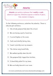 ideas of adverb worksheets for grade 7 about form austsecure com