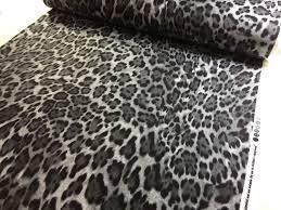 grey leopard print flannel windham fabrics animal print