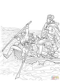 george washington crossing the delaware coloring page free