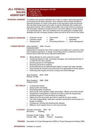 project manager resume exles attractive project manager resume mockup sales assistant cv 6 cover