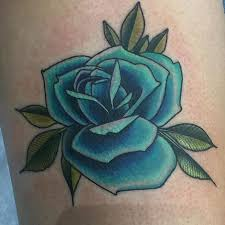 Teal Roses Awesome Blue Rose Tattoo By Jason Tritten