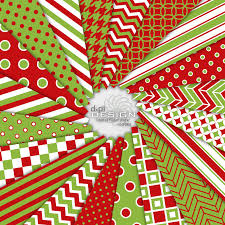 bright red and green christmas digital scrapbook paper