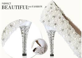 wedding shoes size 12 custom size amzing pearl white wedding shoe