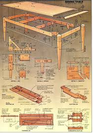 3088 dining room table plans furniture plans чертежи столярных