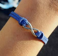 silver infinity bracelet with charms images Diy infinity leather bracelet in silver blue imitation leather jpg
