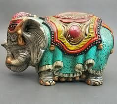 vintage arnel u0027s pottery ceramic elephant hand painted