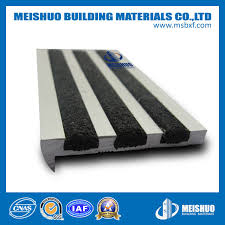 china non slip stair treads outdoor with carborundum inlay photos