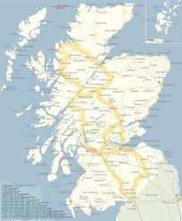 map of and scotland aboutscotland touring map of scotland for the independent traveller