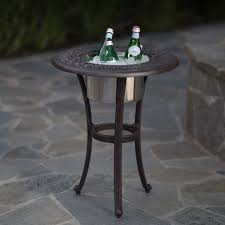 Outdoor Patio End Tables Belham Living San Miguel Beverage Cooler Side Table With Stainless