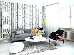 salon canap gris salon avec canape gris et blanc papier peint inspiree du fonce t