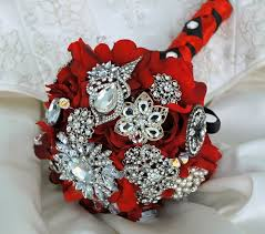 17 best brooch bouquets images on pinterest bridal bouquets red