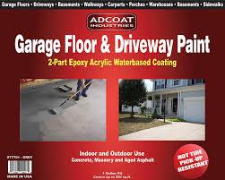 garage floor u0026 driveway epoxy paint 1 gallon kit grey