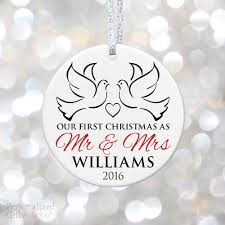 doves year married ornament personalized gift market