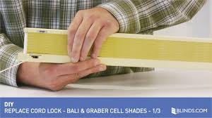 Replacement Cords For Blinds How To Replace A Cord Lock On A Bali Or Graber Brand Cellular