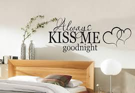 bedroom wall stickers kiss me goodnight wall art sticker quote bedroom wall stickers 002