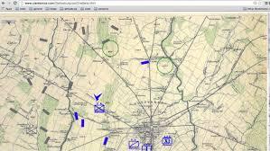Battle Of Gettysburg Map Gettysburg Animated Map Final Beta Youtube