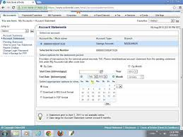how to download an account statement form online sbi youtube