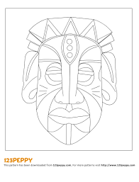 13 african mask template images african mask coloring pages