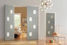 door lightsteelblue trustile doors with silver handle matched