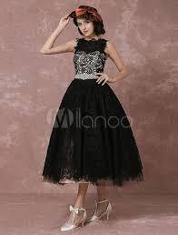 milanoo brautkleider kurze hochzeitskleid schwarzer spitze vintage brautkleid strass