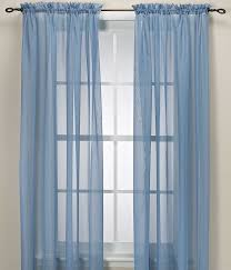 Silver And Blue Curtains Sheer Voile Elegance Curtain U0026 Scarf Panel U2013 Silver Grey