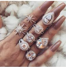 fashion long rings images Nail accessories ring diamonds diamonds ring heart diamond jpg