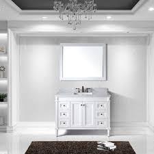 48 single sink vanity with backsplash virtu usa tiffany 48 inch single sink white vanity with carrara