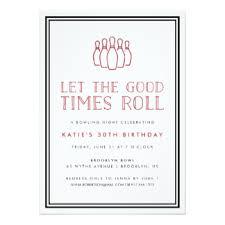 bowling birthday invitations u0026 announcements zazzle