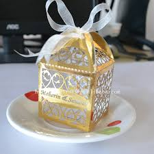 wedding gift boxes personalized gold silver wedding party favors gift box event