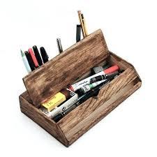 Wicker Desk Organizer Vintage Desk Organizer Vintage Desk Organizer Wooden Wood Desktop