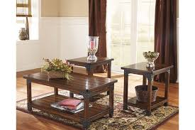 brown coffee table set murphy table set of 3 ashley furniture homestore