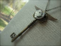 vintage key necklace images The flying key harry potter inspired steampunk skeleton key jpg
