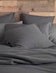 cotton charcoal grey duvet cover secret linen store