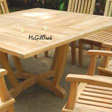 Wood Patio Dining Table by Outdoor Table Tropez Square Table
