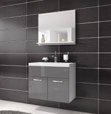 bathroom cabinet montreal 02 60cm basin grey high gloss storage