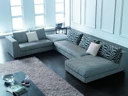 furniture modern living room design with black leather