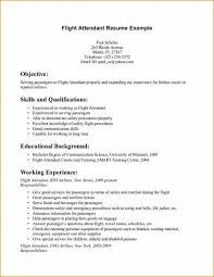 Sample Resume For Flight Attendant by Sample Resume For Flight Attendant With No Experience