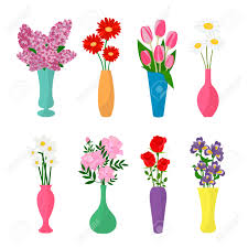 Clipart Vase Of Flowers Flowers In Vases Flower Pots Icons Chamomile Rose Lilac