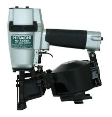 Paslode Coil Roofing Nailer by Hitachi Nv45ab2 7 8 Inch To 1 3 4 Inch Coil Roofing Nailer Side