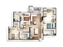 Floor Plans For Apartment Buildings by 1 2 3 U0026 4 Bedroom Apartments For Rent At Blvd63