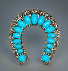 vintage turquoise bracelet images Antique persian turquoise jewelry horseshoe brooch antique jpg