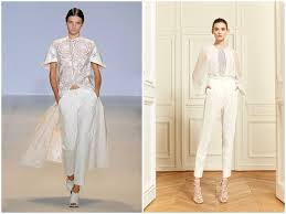 white wedding jumpsuit and the wore the trousers bridal musings