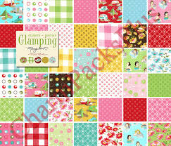glamping moda fabric charm pack five inch quilt squares