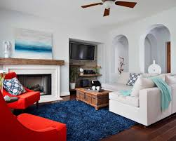 Livingroom Rugs Awesome Living Room With Sectional Sofa And Grey Shag Rugs