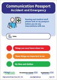 widgit symbol resources communication passport for a u0026e