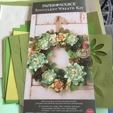 paper source u0027s succulent wreath also known as arts and crafts