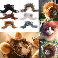 lion halloween costume pet costume lion mane wig for dog cat halloween clothes festival
