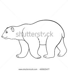polar bear color page coloring pages mother polar bear sits stock vector 469820405