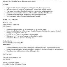 Resume Examples For Medical Billing And Coding by Incredible Inspiration Medical Coding Resume Samples 8 Coding