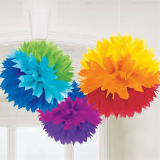 tissue paper decorations rainbow fluffy tissue paper decorations s